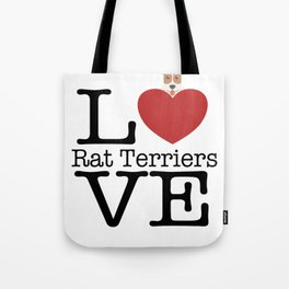Love Cute Rat Terriers Tote Bag