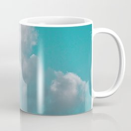Floating cotton candy with blue green Coffee Mug