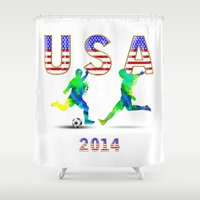 usa Shower Curtains featuring USA by Robin Curtiss