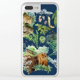Fungi & Ferns Blue Clear iPhone Case