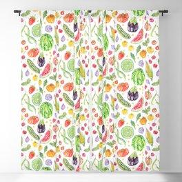 Summer Harvest Pattern White Blackout Curtain