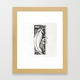 Wing Feather Inktober :: Bronzed Angels Barefoot Framed Art Print