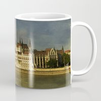 budapest Mugs featuring Parlament Budapest by eMBie