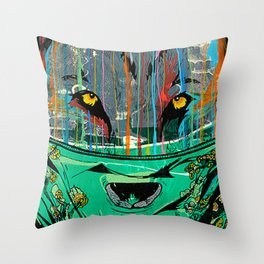 Wolf Mother - Screen Print Edition  Throw Pillow