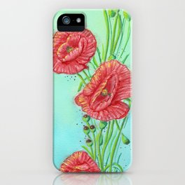 Corn Poppy iPhone Case