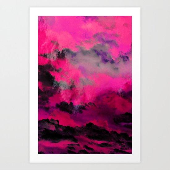 Raspberry Storm Clouds Art Print