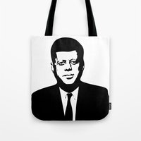 jfk Tote Bags featuring JFK by b & c