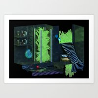 bathroom Art Prints featuring Bathroom by tvoneiro