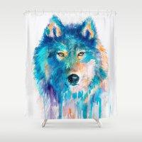 wolf Shower Curtains featuring Wolf by Slaveika Aladjova
