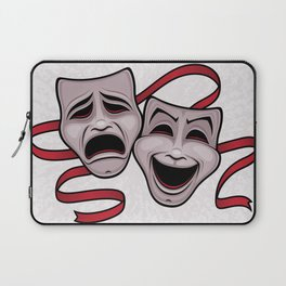 Comedy And Tragedy Theater Masks Laptop Sleeve