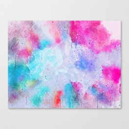 Abstract Watercolor paint Canvas Print