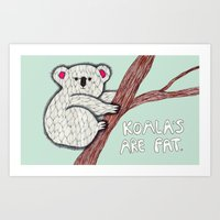 koala Art Prints featuring Koala by Olga M.