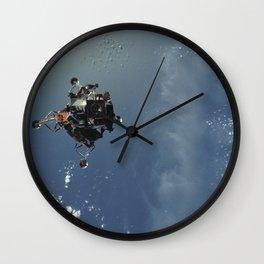Apollo 9 - Lunar Module Over Earth Wall Clock