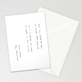 You will never be able to escape from your heart. Stationery Cards