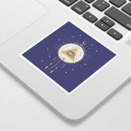 Magical night tarot illustration no5 Sticker