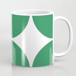 Mid Century Modern Green Square Coffee Mug