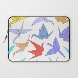 Japanese Origami paper cranes symbol of happiness, luck and longevity Laptop Sleeve