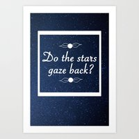 neil gaiman Art Prints featuring Neil Gaiman Quote 1 by Hannah Sutker