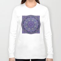batik Long Sleeve T-shirts featuring Batik Meditation  by DebS Digs Photo Art