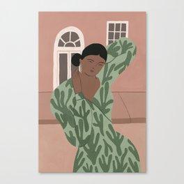 An Abstract Cacti Dress Canvas Print