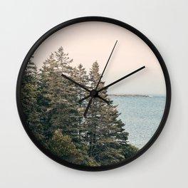 Maine Pines Wall Clock