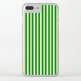 Green and Golden Vertical Clear iPhone Case