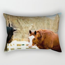 True Friends. Don't look now, I think your right we're being watched. Rectangular Pillow