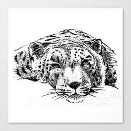 Chilling Leopard Canvas Print