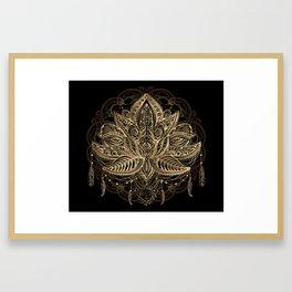 Lotus Black & Gold Framed Art Print