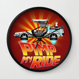 Pimp My DeLorean Wall Clock
