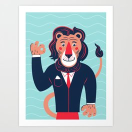 Hello children, says the lion Art Print