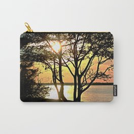 Tree Silhouette At Sunset Carry-All Pouch