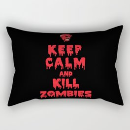Keep Calm And Kill Zombies Rectangular Pillow