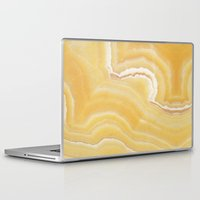 white marble Laptop & iPad Skins featuring Marble by Santo Sagese