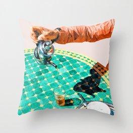 Chai #painting #digitalart Throw Pillow
