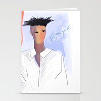 basquiat Stationery Cards featuring Basquiat  by lindseybaker