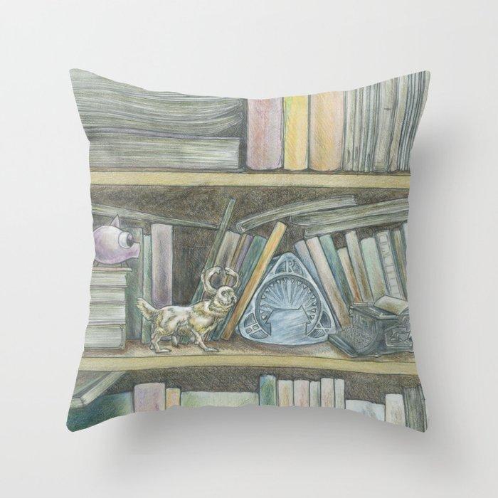 RHX Bookshelf Logo Throw Pillow