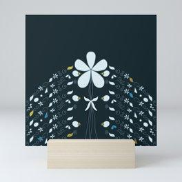 Night Garden Pattern Mini Art Print