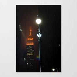 Rain At The Empire State Canvas Print