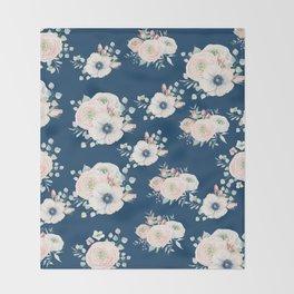 Dog Rose Pattern Throw Blanket