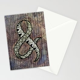 Purple Ampersand Stationery Cards