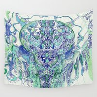 "hydra Wall Tapestries featuring ""hydra"" by Rachna Radar"