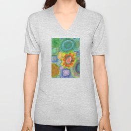 A closer Look at the Flower  Universe Unisex V-Neck