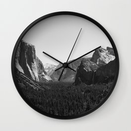 Tunnel View, Yosemite National Park III Wall Clock