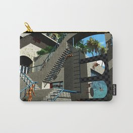 Optical Illusion - Tribute to Escher Carry-All Pouch
