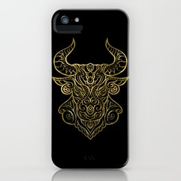 Taurus Gold iPhone Case