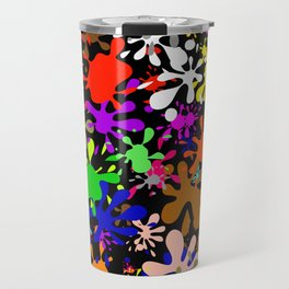 Colourful Fun Paint Blots and Stains Travel Mug