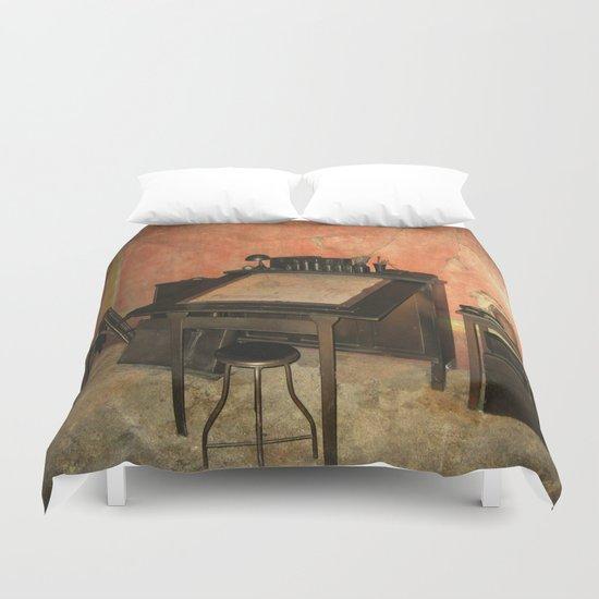Antique Nautical Desk  Duvet Cover