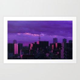 Tokyo Storm Art Print