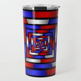 Colorful Tunnel 3 Digital Art Graphic Travel Mug